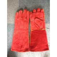 "China 16"" / 14"" Red Safety Working Gloves Full Lining Apron Palm Kevlar Stiched wholesale"