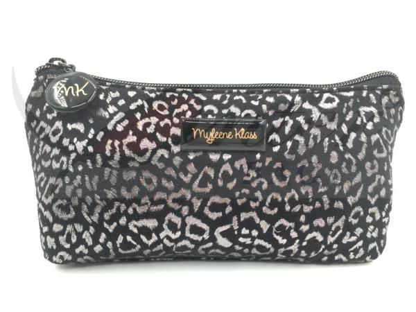 "Quality Silver Leopard Zipper Cosmetic Bags , Small Cosmetic Pouch 9""X4.5""X1.5"" for sale"