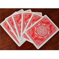 China OEM Logo Printed Casino Grade Playing Cards , Bar Code Plastic Quality Poker Cards wholesale