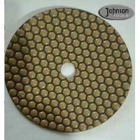 China 7 Inch Honeycomb Dry Diamond Polishing Pads For Stone Surface Super Soft Type wholesale