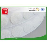 China Rounded cutting Custom Hook and Loop Patches hook and loop dots with glue backing wholesale