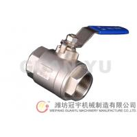China 2-PC thread stainless steel ball valve wholesale