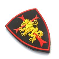 China Shoulder Custom Embroidered Badges , Military Hook And Loop Patches Fabric Cloth wholesale