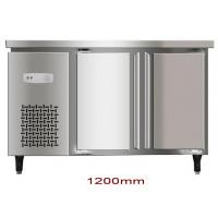 China 200L Double Door Saving-energy Low Noise Stainless Steel Commercial Freezer, Kitchen Undercounter Refrigerator wholesale