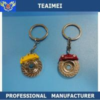 China Embossed Brake Disc Car Key Keychains Promotional Keyrings For VOLVO / FORD wholesale