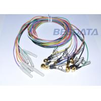 China Clinical EEG Ear Clip Electrodes , Medical EEG Cable 1.5mm Din Connector wholesale