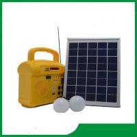 Buy cheap Mini solar lighting kits / portable DC 6v 10w solar system with phone charger, radio, MP3 for camping from wholesalers