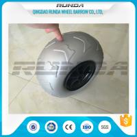 China 9 Inch Pneumatic Rubber Wheels PP Rim , Balloon Hand Truck Wheels Without Bearing wholesale
