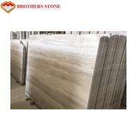 China Best Selling Chinese Wooden Grain White Marble Slab Marble Floor Tiles on sale