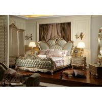 China Luxury hotel bedroom furniture Crown leather upholstered Headboard w/ Wardrobe Joyful Ever wholesale