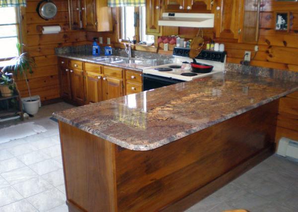 Quality United States Popular Precut Granite Countertops / Stone Effect Kitchen Worktops for sale