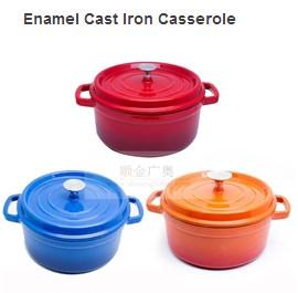 Quality Cast Iron Enameled Cookware/Enamel Cast Iron Casserole/Round Enamel Pots for sale