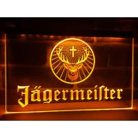 China Factory Wholesale Wall-mounted Jagermeister Deer head LED Illuminated Neon Bar Sign Display wholesale