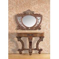 China Artificial Wood Polished Carved Makeup Dressing Table With Mirror Wall mouted on sale