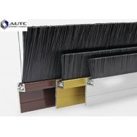China Flame Dust Metal Channel Strip Brushes Aluminum Holder Door Bottom Seal wholesale