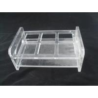 China Transparent Square Wine Rack Glass Bottle Holder Drinking Cup Stand wholesale