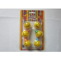 China Yellow Smile Face Shaped Birthday Candles Dia 3cm Indoor Party Decoration wholesale