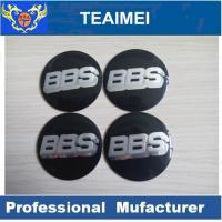 China 56mm BBS Car Sticker ABS Plastic Label Sticker With Glass Cement wholesale
