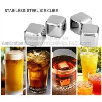 China Square Shape Ice wine stone ice cubes for wisky bar accessories, Gift box Customized Stainless Steel Whiskey Stones ICE wholesale