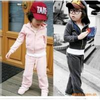 China Best selling 2014 new design fashion baby dress velvet two-piece suit clothes wholesale clothing new york wholesale