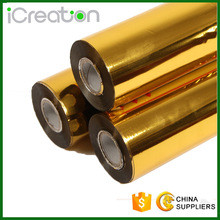 Quality 15Micron Flat Hot Gold Foil Stamping For Beer Lable / Cholocate Package for sale