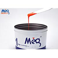 Orange Water Based Ink , Curing Water Based Screen Printing Ink For Paper