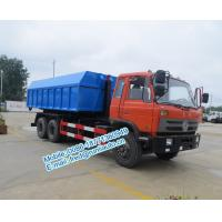China Hydraulic oil cylinder controlled orange color Dongfeng 6x4 20 ton used hook truck cheap price for sale wholesale