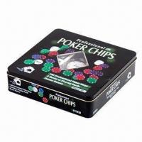 China Poker chip with tinbox packing wholesale