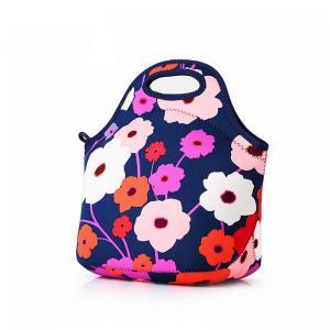 China Flower Printing Waterproof Neoprene Bento Cooler Bag wholesale