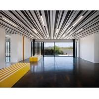 China Decorative  Ceiling Aluminium Strip Slat  85mm For Airport Office Ral 9010 White Or Customized wholesale