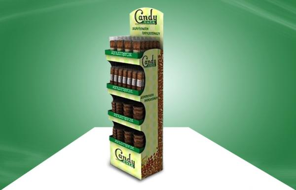 Quality Customized Candy POP Cardboard Display With Four Shelf , cardboard floor display stands for sale