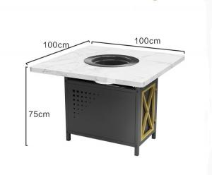 China Factory price electric mini marble tabletop restaurant hot pot table wholesale