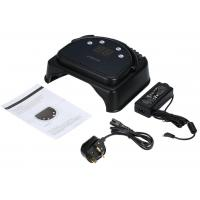 China Electric Black 64W Gel Light Nail Dryer Rechargeable Metal Style Led Uv Nail Lamp wholesale