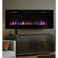 China 50 Inch Bliss Crystal Full Recessed Touch Screen Multi-Color Wall Mounted Electric Fireplace IF-50T Classic Flame wholesale