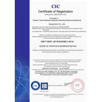 Henan Coal Science Research Institute Keming Mechanical and Electrical Equipment Co. , Ltd. Certifications