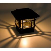 China ECO Friendly Solar Post Cap Lamp 150 Lumens Quick Installation For Garden Yard on sale