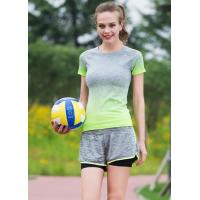 China Side Stripe Womens Sports Clothing Suits , Womens Gym Apparel Stretch Fabrics wholesale