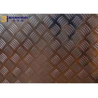 China Big Five Bar Checkered 6061 Aluminum Plate 0.6mm - 10mm Thickness High Hardness wholesale