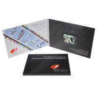 China Magnetic Switch LCD Screen Video Brochure Custom Printing LCD Brochure Card on sale