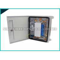 China 24 Capacity Fiber Optic Distribution Box Outdoor Filleted Corner FC / SC Adapters on sale