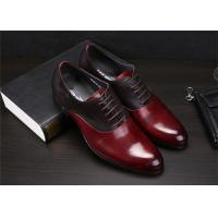 China Color Blocking Classic Dress Shoes Fashion Upper With Leather And Suede Sewing Together wholesale
