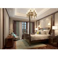 China Creamy White Living Room Wallpaper with Embossed Symmetrical Floral Pattern wholesale