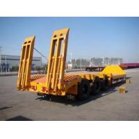 China 3 axles low load semi trailer ,60Ton 3 axles truck bed trailer sale wholesale