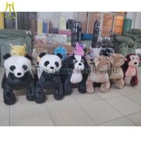 China Hansel 2016 high quality Guangzhou Wholesale Electric Car Rides Kiddie Rides Stuffed Electric Scooter Motorized animals on sale