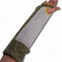 China Cow Split Leather Arm Sleeve with Velcro Protection, CE-certified wholesale