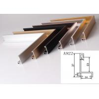 China Anodized Aluminum Metal Picture Frame Moulding Customized Long Durability on sale