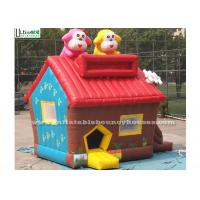China Colorful Small Cute Puppy Bounce House With Anti Ruptured PVC Custom Made wholesale