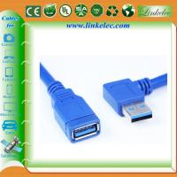 China 1m Black SuperSpeed USB 3.0 Cable - Right Angle A to A - M/M wholesale