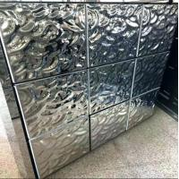 China Ripple Stainless Steel Panels Rose Gold Mirror Finish For Facade Wall Cladding  Curtain Wall Ceiling 201 304 316 wholesale