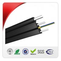 China 2 Core Outdoor FTTH Drop Cable HS Code 8544700000 With Steel Wire Strengthen on sale